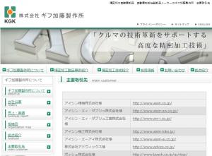 ギフ加藤のホームページ