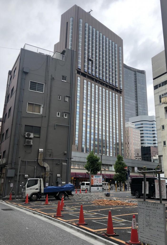 ■銀座グランベルホテル建設予定地は未だに更地だ(今年5月撮影)