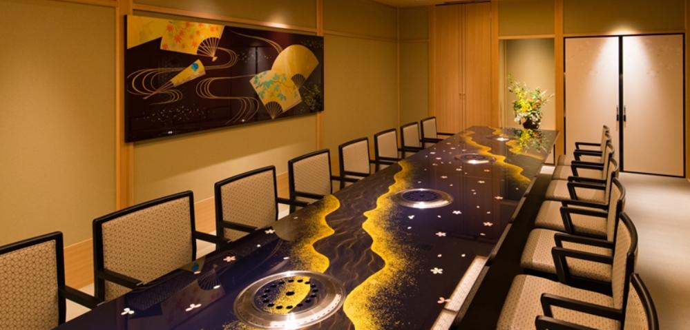 ■資産運用部門の「部長会」会場の赤阪「游玄亭」